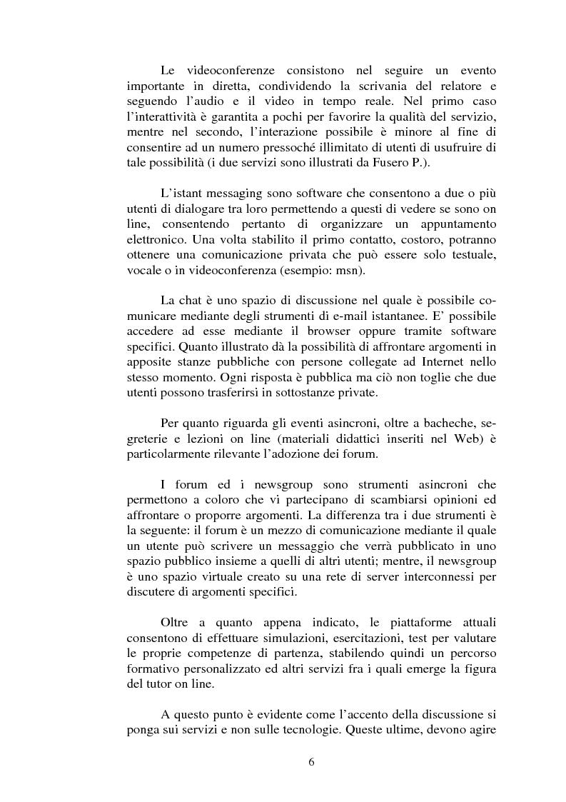 Anteprima della tesi: I servizi di e-learning distribuiti su reti WiFi, Pagina 3