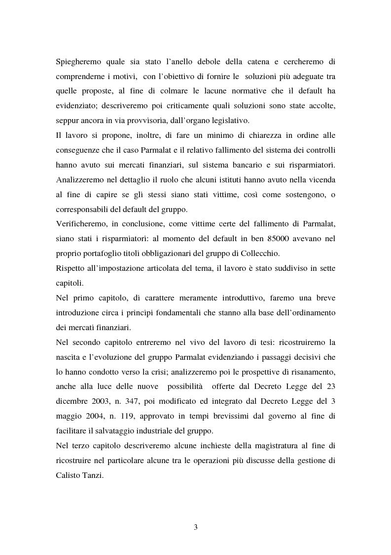 Anteprima della tesi: Il fallimento del sistema dei controlli interni ed esterni nel caso Parmalat, Pagina 3