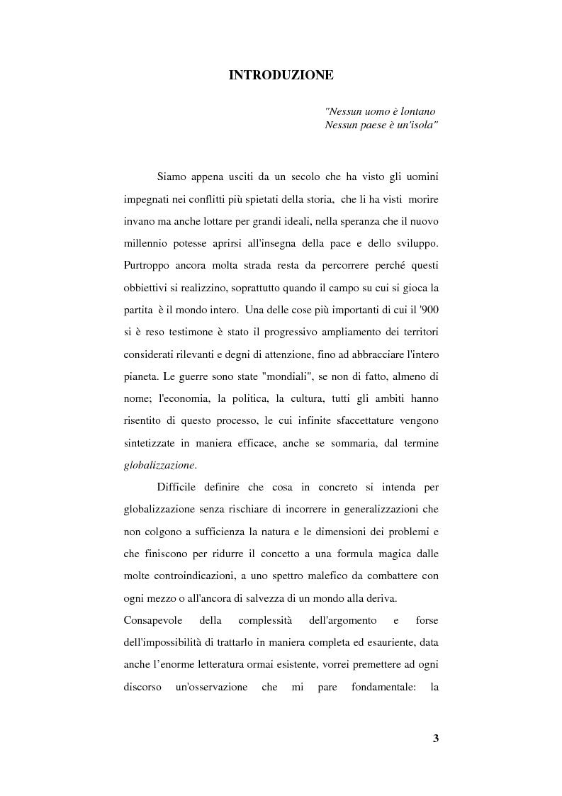 Anteprima della tesi: Globalizzazione e occidentalizzazione del mondo. Problemi e interpretazioni, Pagina 1