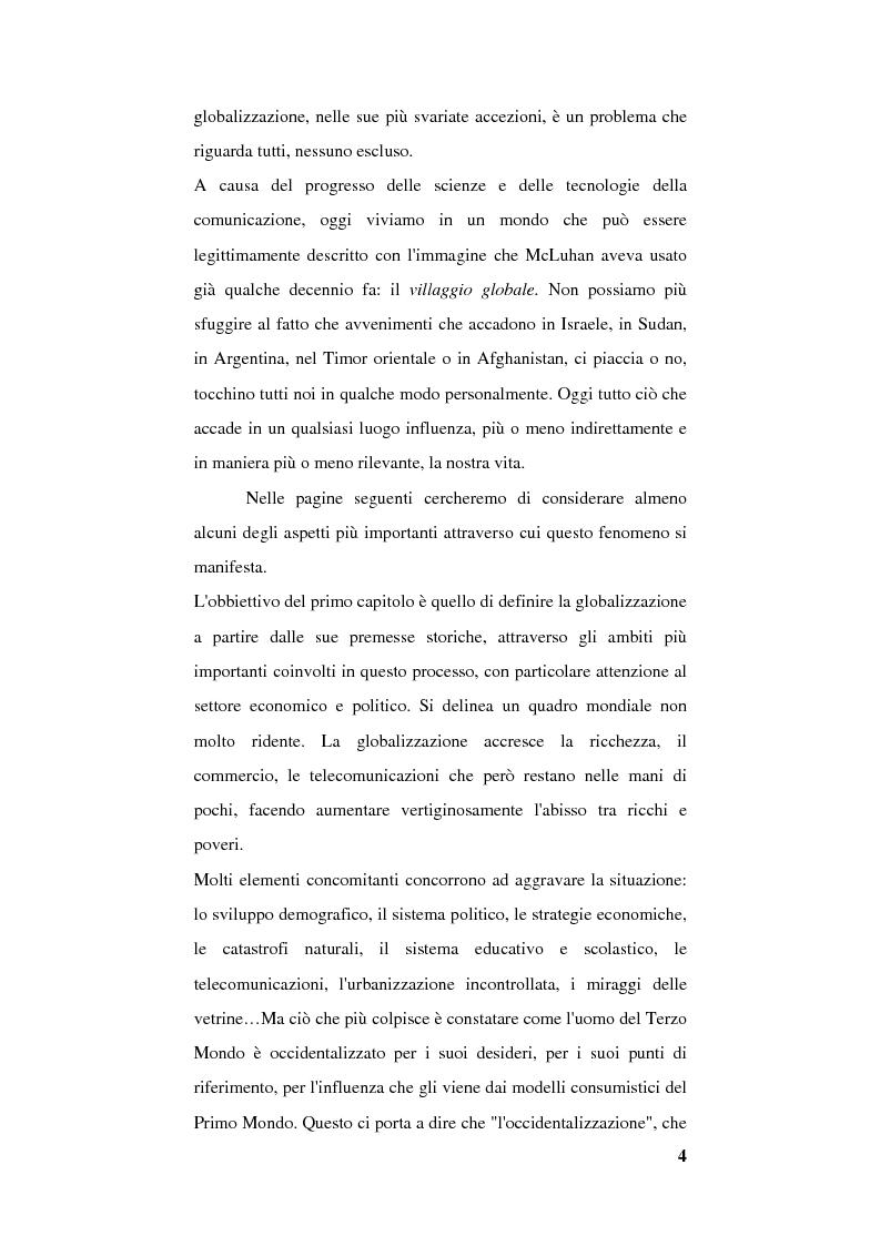 Anteprima della tesi: Globalizzazione e occidentalizzazione del mondo. Problemi e interpretazioni, Pagina 2