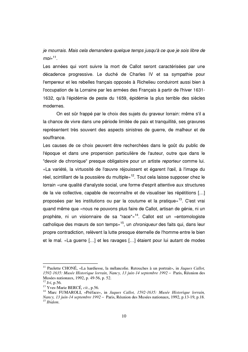 Anteprima della tesi: Etude sur Callot dans sa présence au Musée Lorrain de Nancy, Pagina 4
