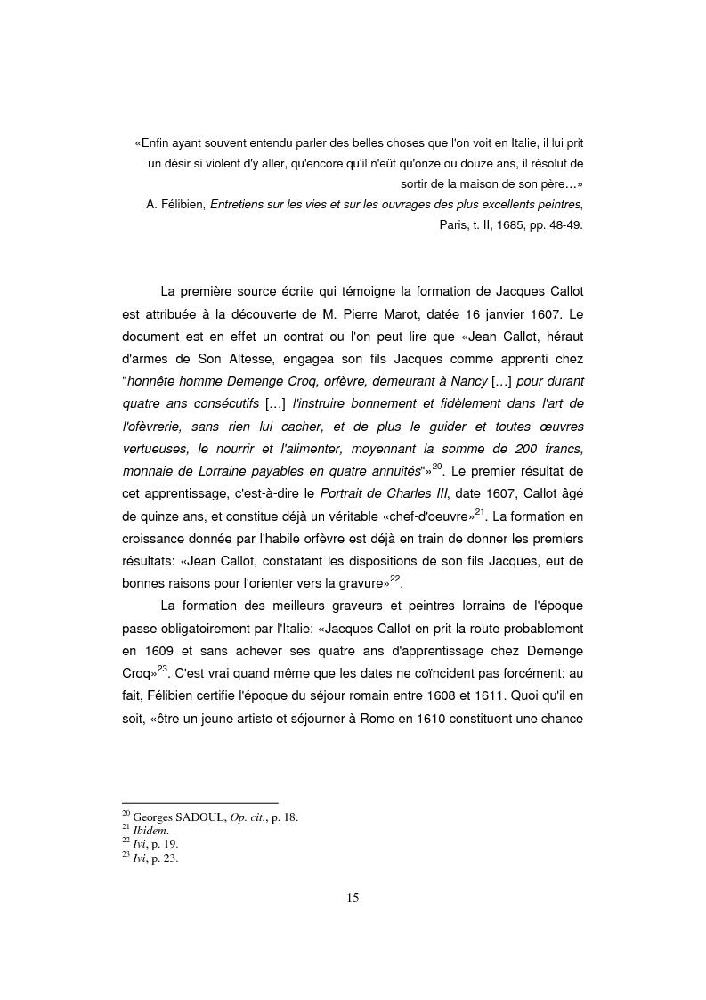 Anteprima della tesi: Etude sur Callot dans sa présence au Musée Lorrain de Nancy, Pagina 7
