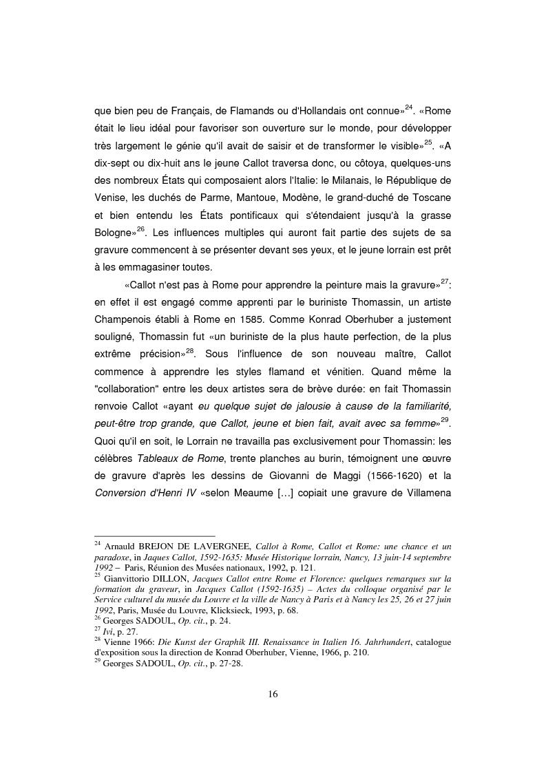 Anteprima della tesi: Etude sur Callot dans sa présence au Musée Lorrain de Nancy, Pagina 8