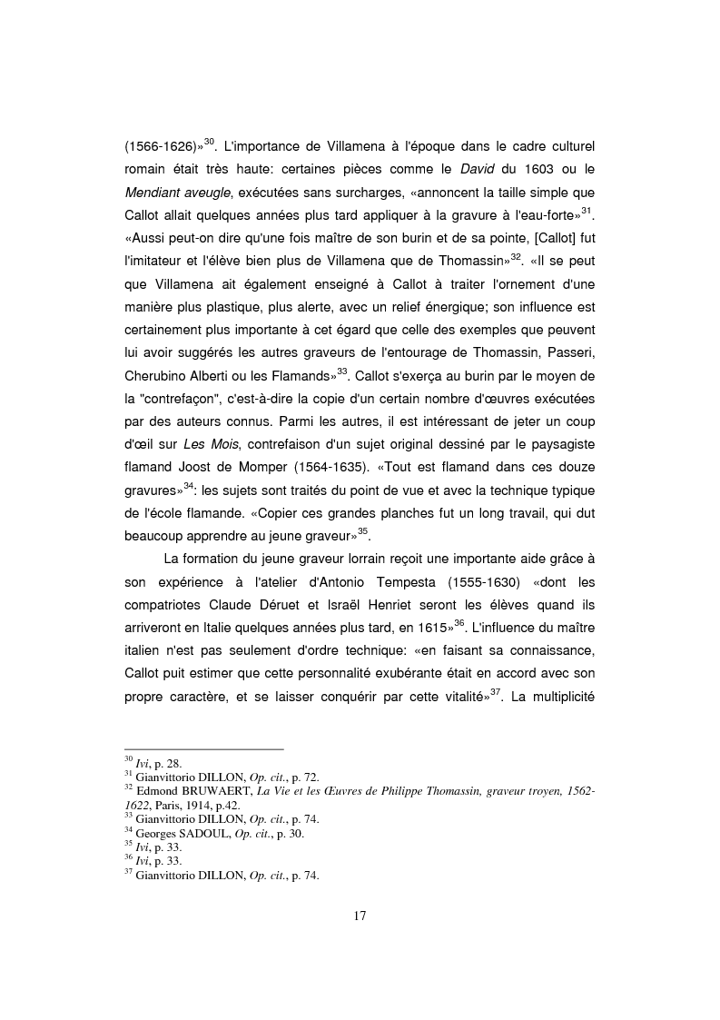 Anteprima della tesi: Etude sur Callot dans sa présence au Musée Lorrain de Nancy, Pagina 9