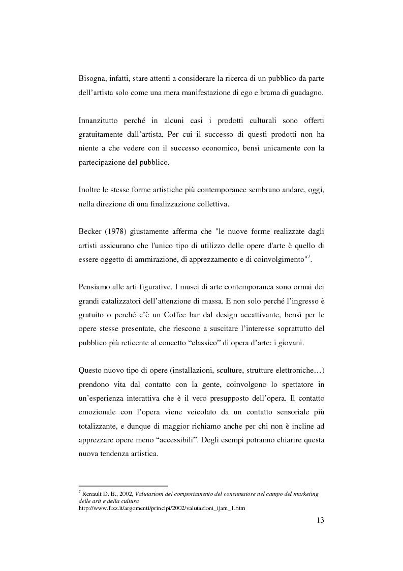 Anteprima della tesi: Il ruolo del management nello sviluppo del prodotto culturale, Pagina 10