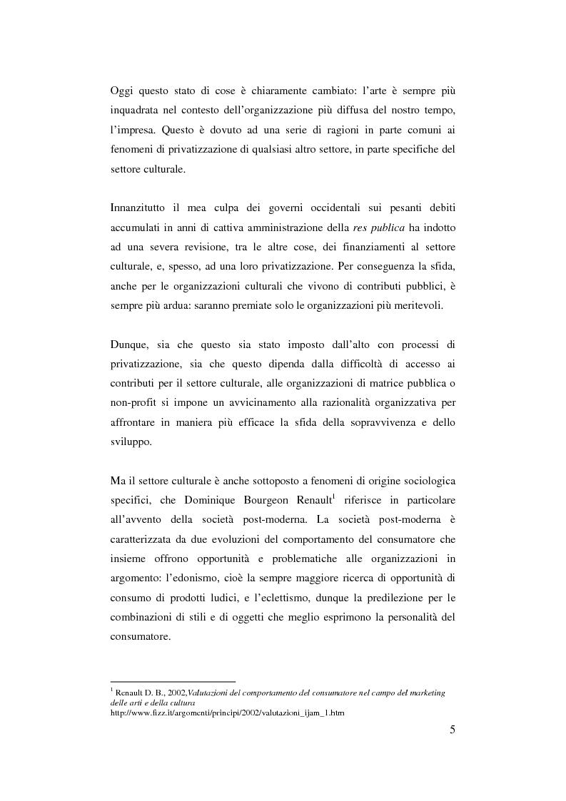 Anteprima della tesi: Il ruolo del management nello sviluppo del prodotto culturale, Pagina 2