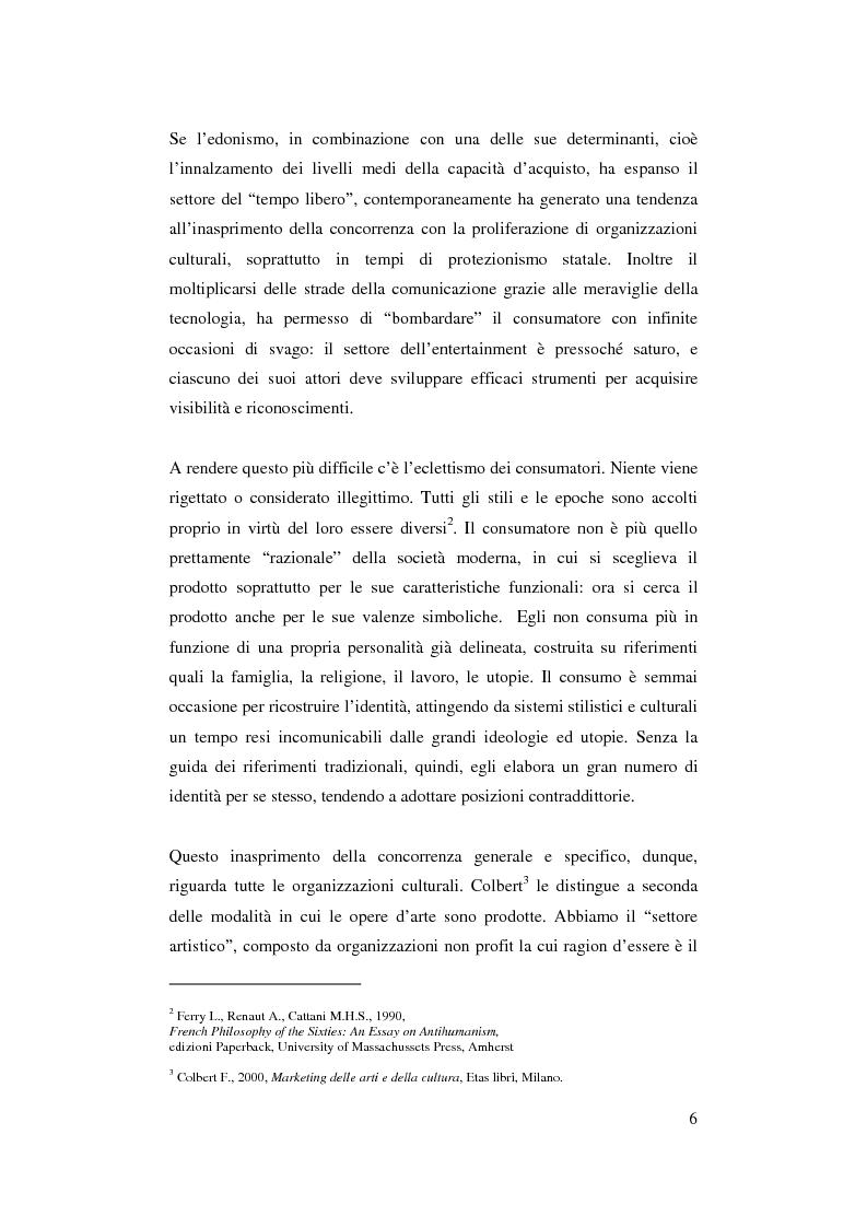 Anteprima della tesi: Il ruolo del management nello sviluppo del prodotto culturale, Pagina 3