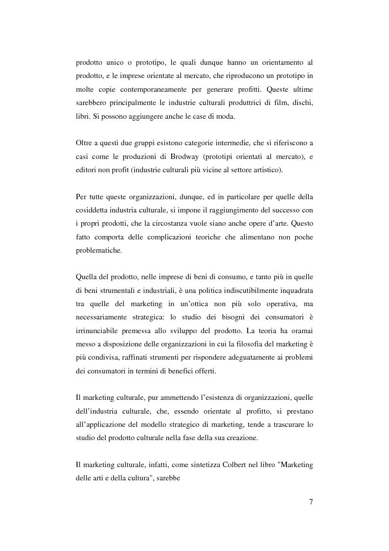 Anteprima della tesi: Il ruolo del management nello sviluppo del prodotto culturale, Pagina 4