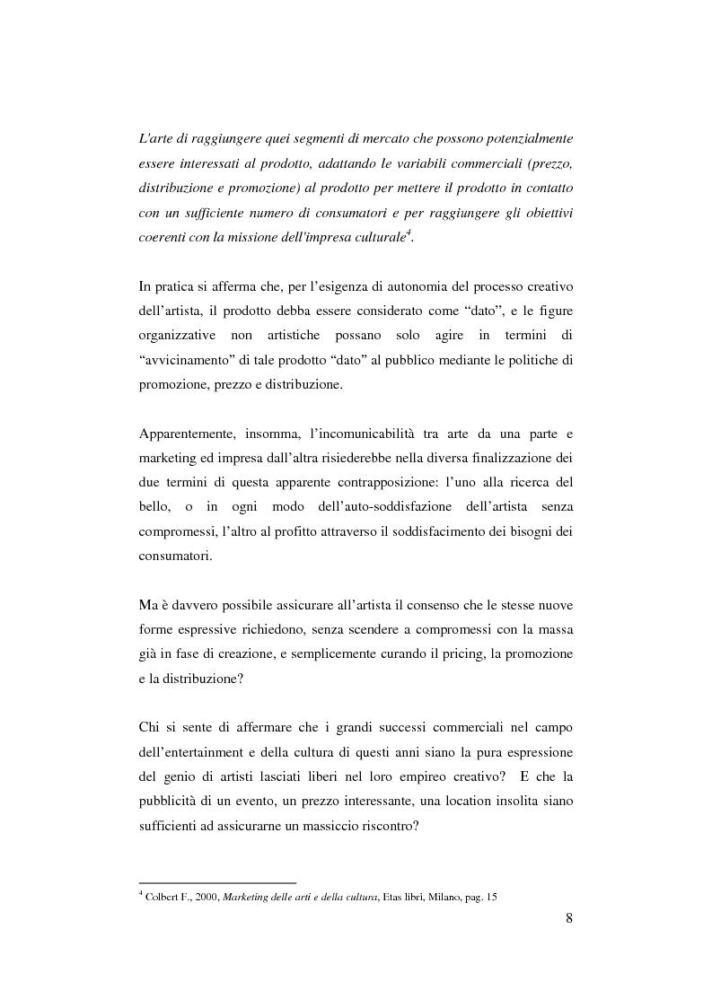 Anteprima della tesi: Il ruolo del management nello sviluppo del prodotto culturale, Pagina 5