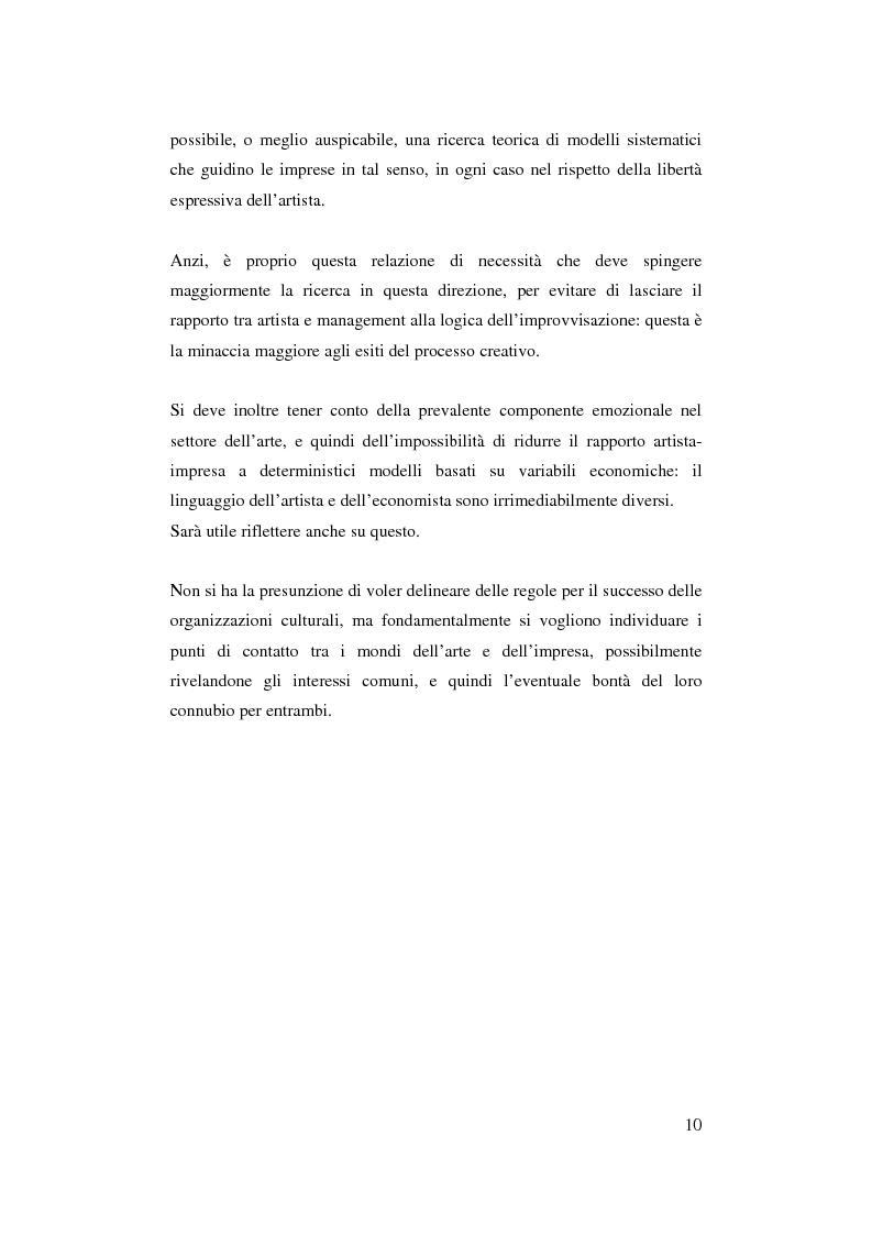Anteprima della tesi: Il ruolo del management nello sviluppo del prodotto culturale, Pagina 7