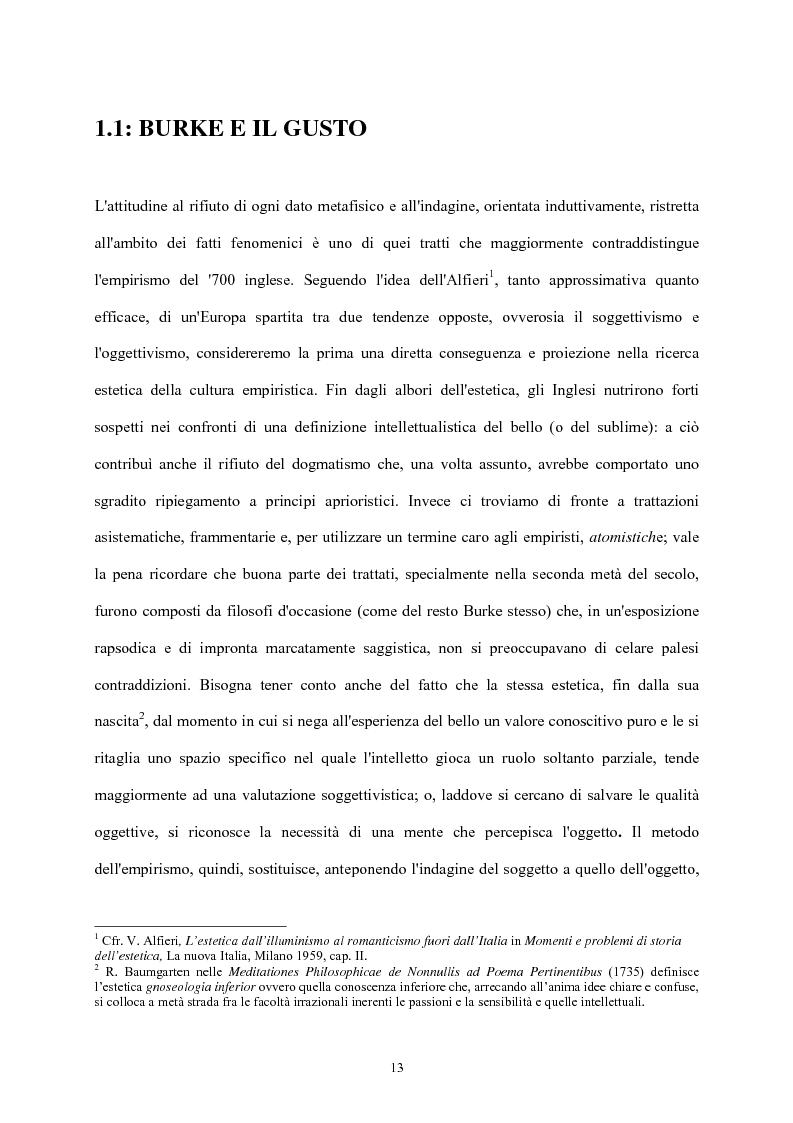 Anteprima della tesi: Burke e il sublime nella prima metà del 'Settecento inglese, Pagina 12