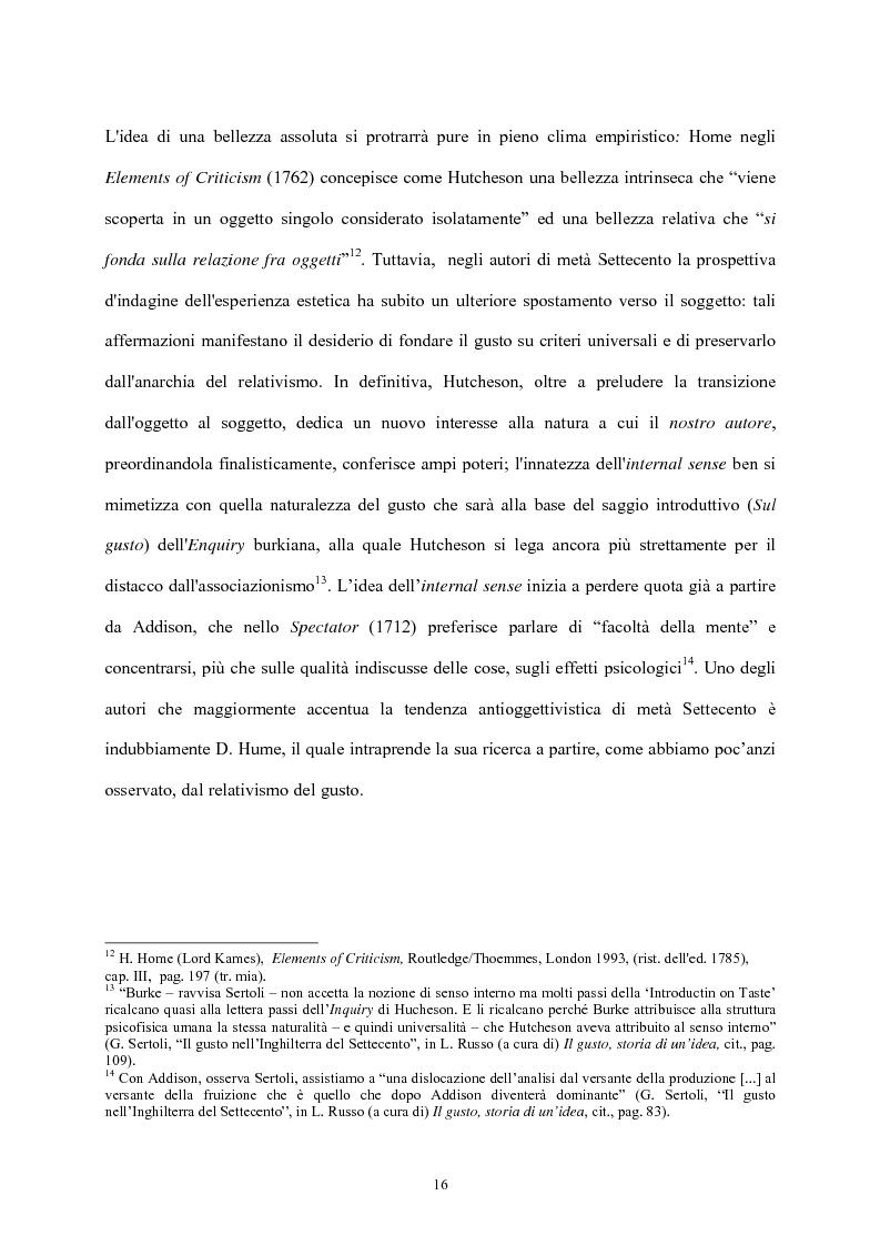 Anteprima della tesi: Burke e il sublime nella prima metà del 'Settecento inglese, Pagina 15