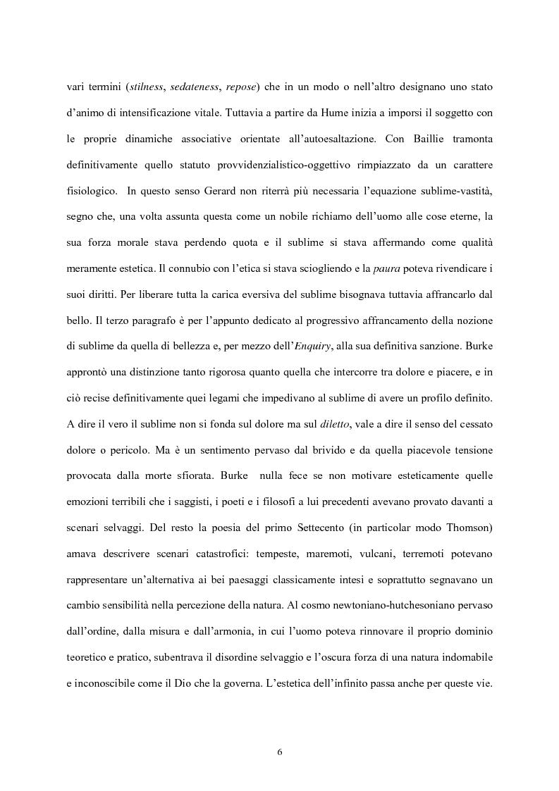 Anteprima della tesi: Burke e il sublime nella prima metà del 'Settecento inglese, Pagina 5