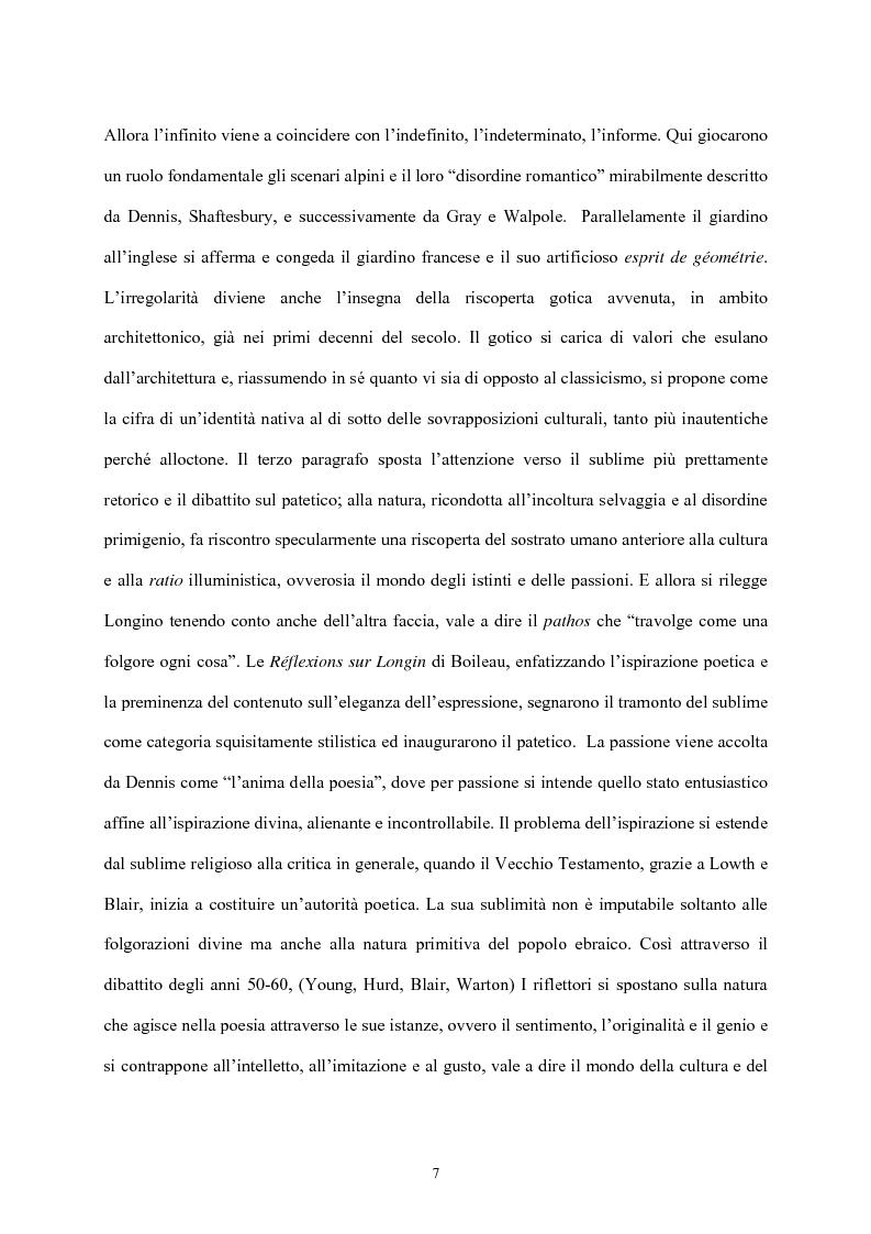 Anteprima della tesi: Burke e il sublime nella prima metà del 'Settecento inglese, Pagina 6