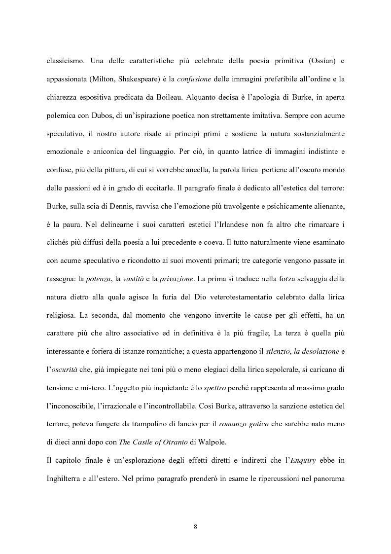 Anteprima della tesi: Burke e il sublime nella prima metà del 'Settecento inglese, Pagina 7