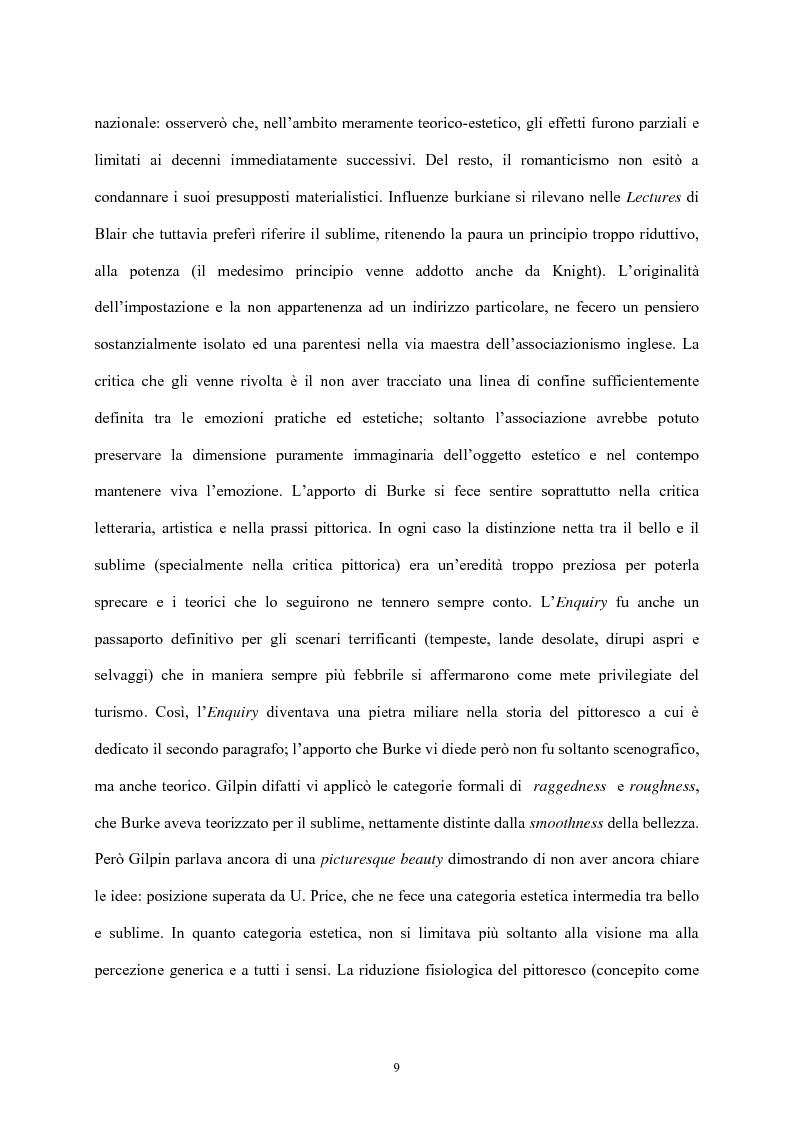 Anteprima della tesi: Burke e il sublime nella prima metà del 'Settecento inglese, Pagina 8