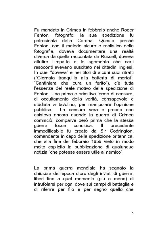 Anteprima della tesi: Giornalismo di guerra: tecniche, evoluzioni, analisi, Pagina 4