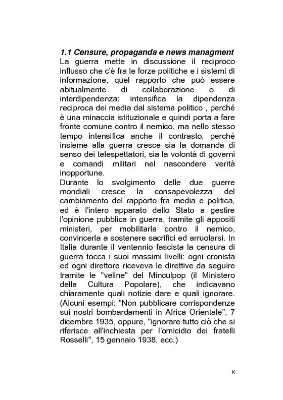 Anteprima della tesi: Giornalismo di guerra: tecniche, evoluzioni, analisi, Pagina 7