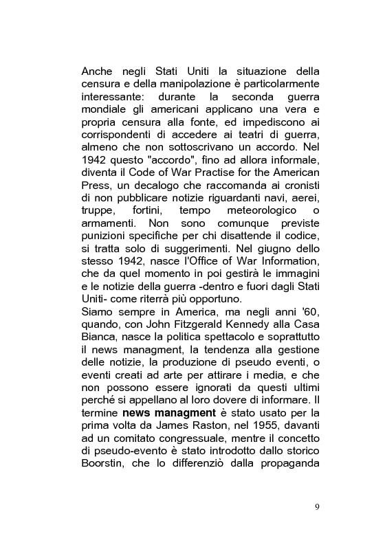 Anteprima della tesi: Giornalismo di guerra: tecniche, evoluzioni, analisi, Pagina 8