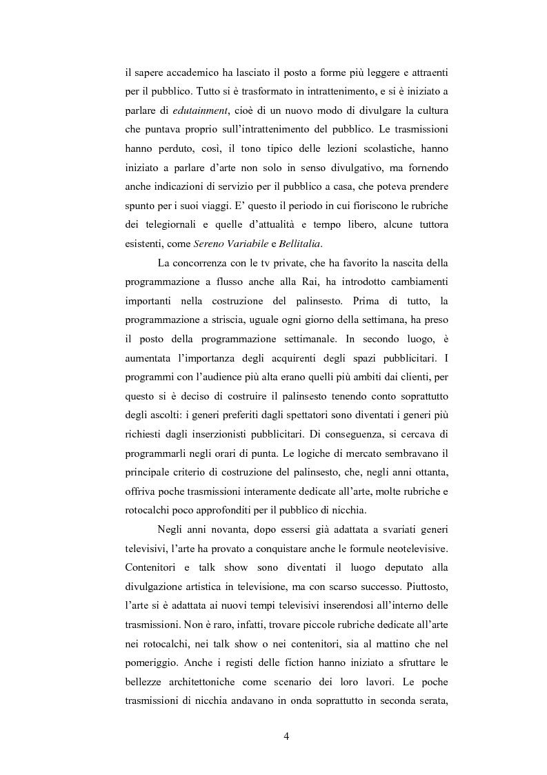 Anteprima della tesi: I programmi d'arte nella televisione pubblica italiana, Pagina 2
