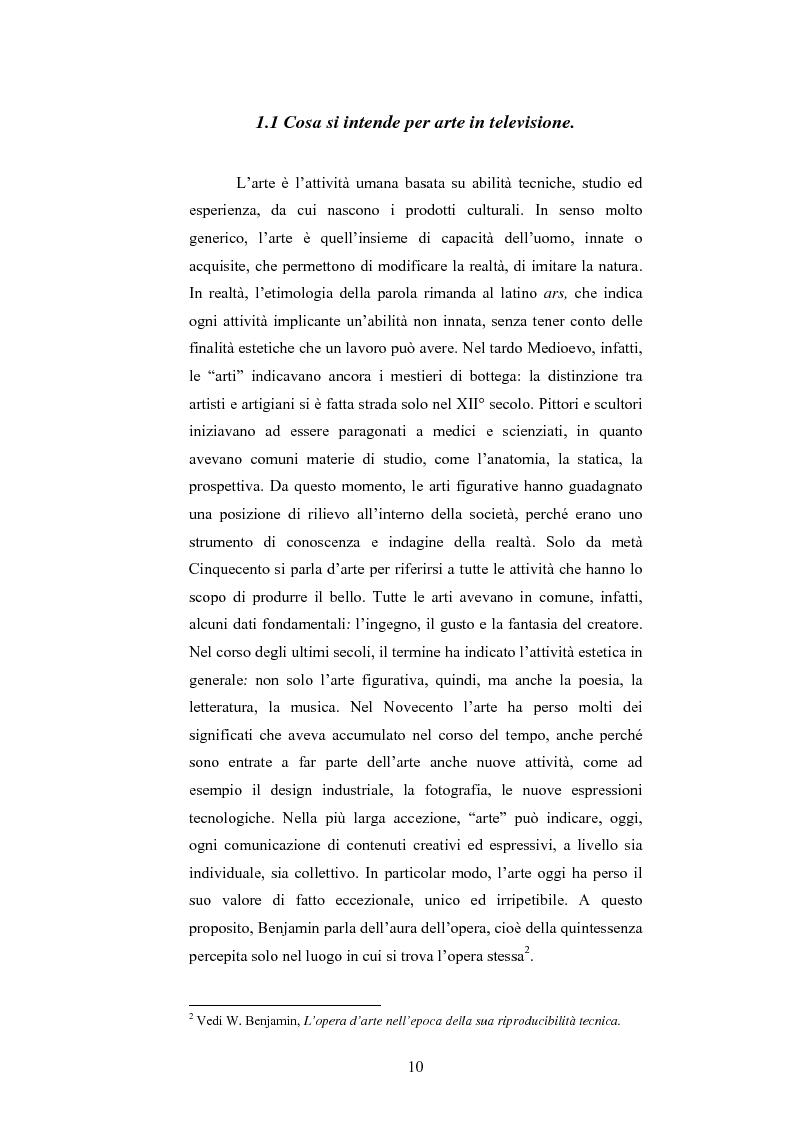 Anteprima della tesi: I programmi d'arte nella televisione pubblica italiana, Pagina 8