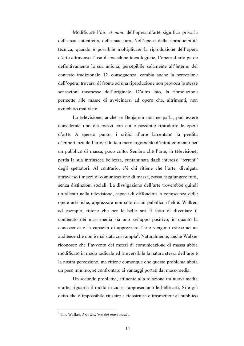 Anteprima della tesi: I programmi d'arte nella televisione pubblica italiana, Pagina 9