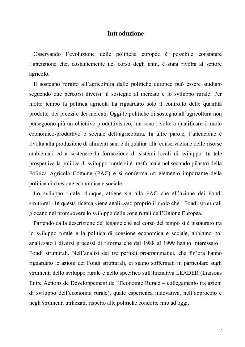 Anteprima della tesi: I Fondi Strutturali europei nel centro Italia. Un caso nella Regione Lazio., Pagina 1