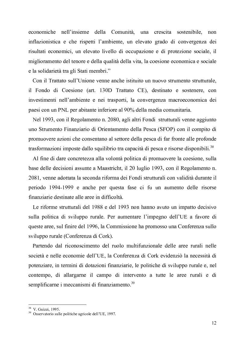 Anteprima della tesi: I Fondi Strutturali europei nel centro Italia. Un caso nella Regione Lazio., Pagina 11