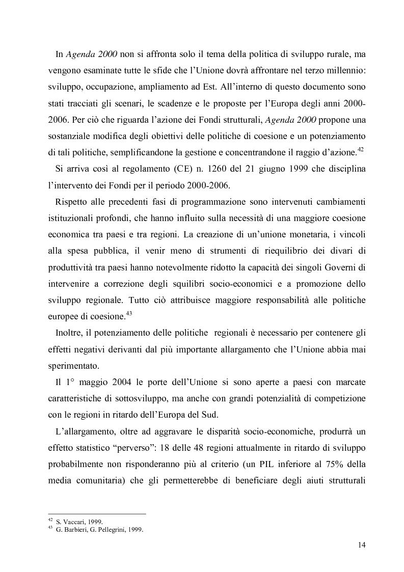 Anteprima della tesi: I Fondi Strutturali europei nel centro Italia. Un caso nella Regione Lazio., Pagina 13