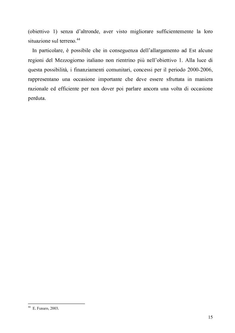 Anteprima della tesi: I Fondi Strutturali europei nel centro Italia. Un caso nella Regione Lazio., Pagina 14