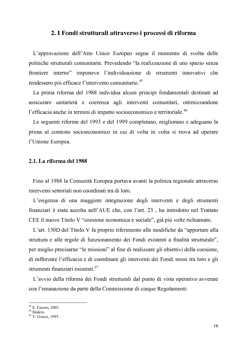 Anteprima della tesi: I Fondi Strutturali europei nel centro Italia. Un caso nella Regione Lazio., Pagina 15