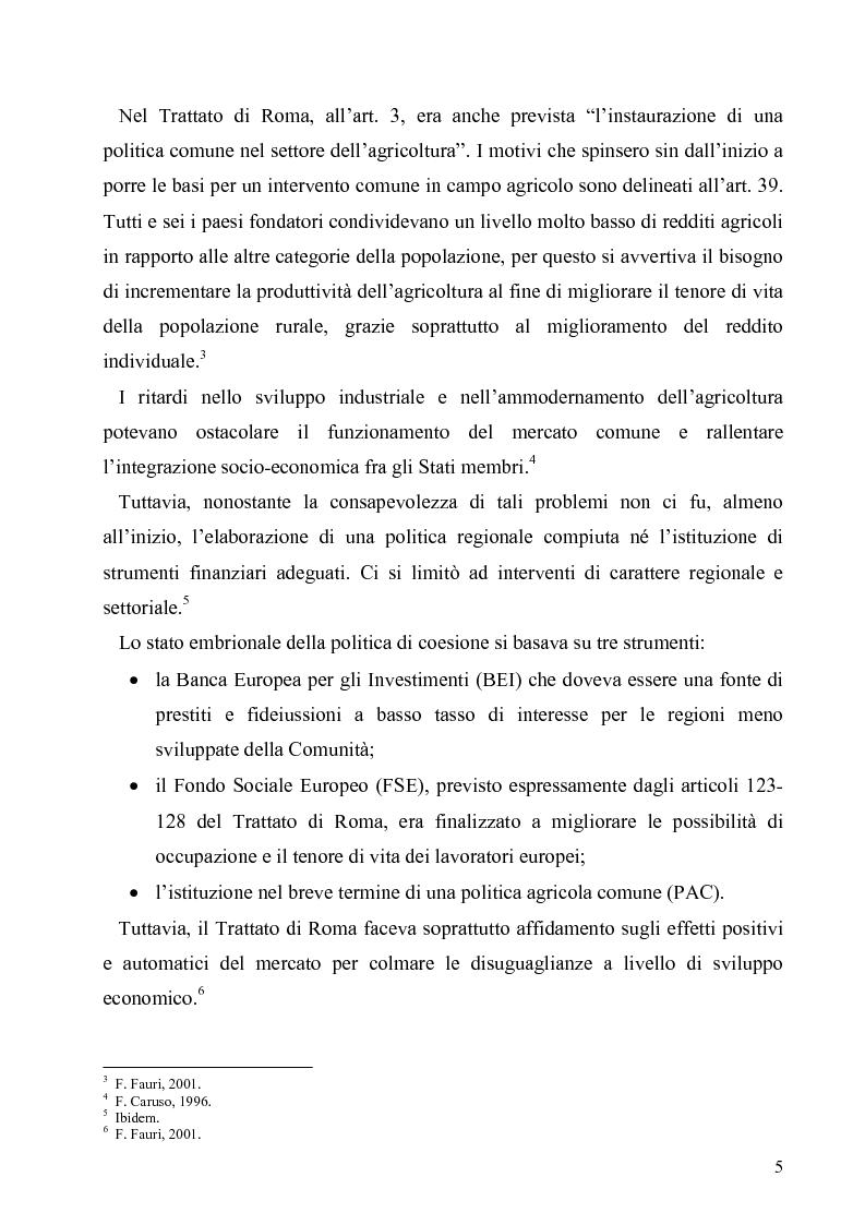 Anteprima della tesi: I Fondi Strutturali europei nel centro Italia. Un caso nella Regione Lazio., Pagina 4
