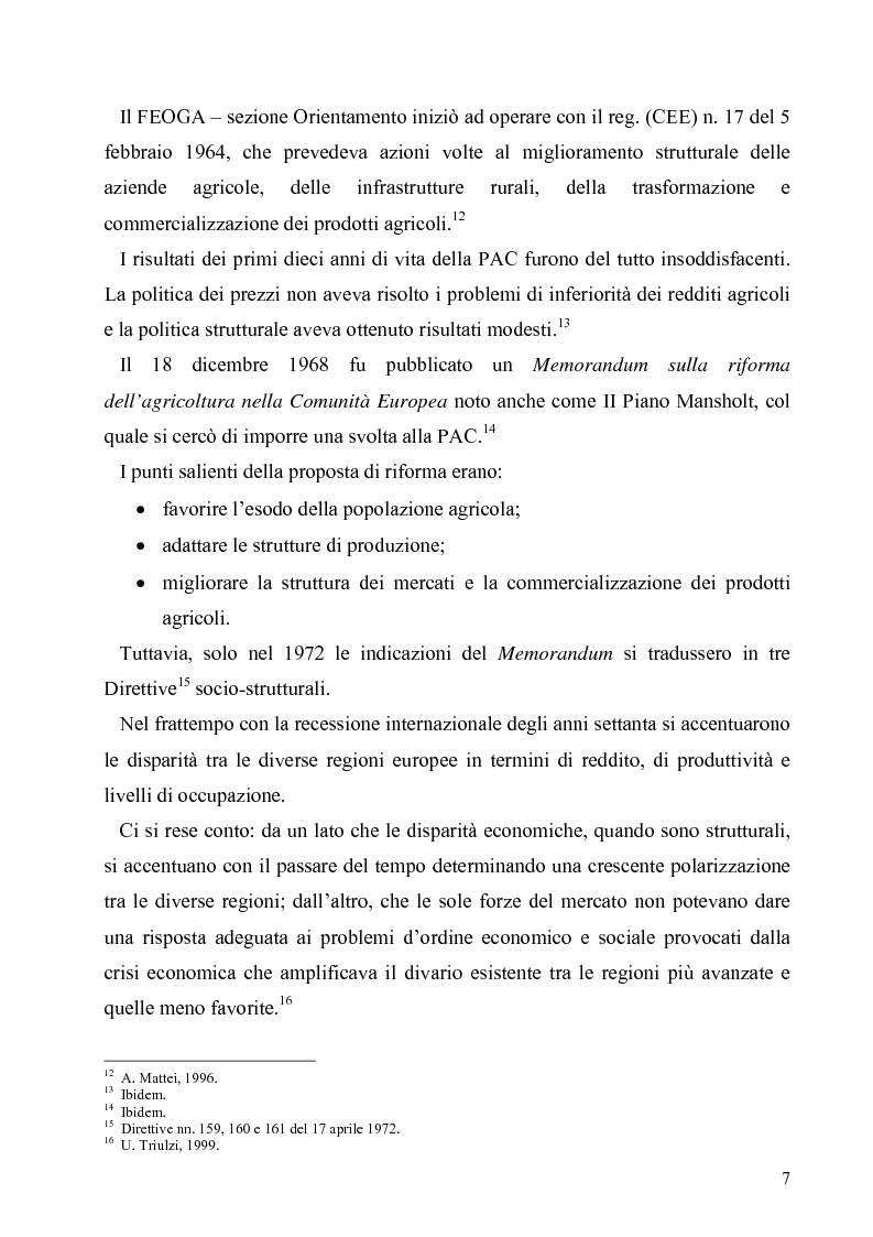 Anteprima della tesi: I Fondi Strutturali europei nel centro Italia. Un caso nella Regione Lazio., Pagina 6