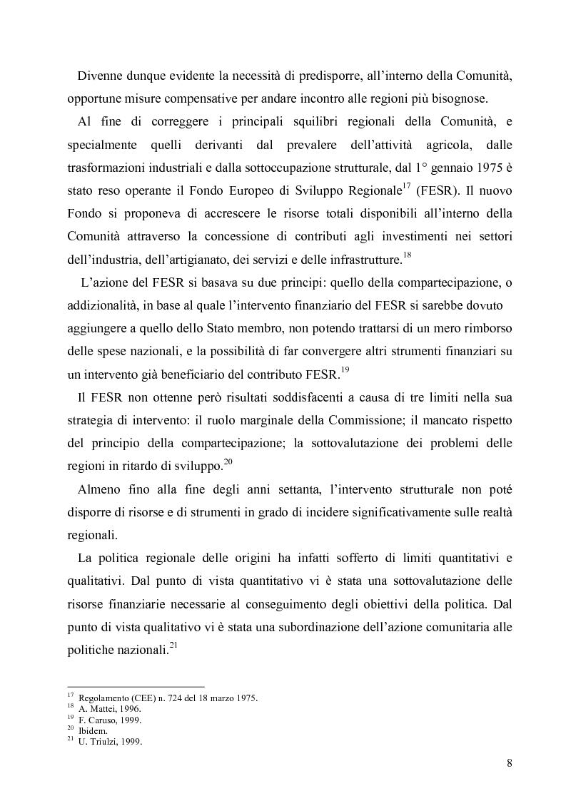 Anteprima della tesi: I Fondi Strutturali europei nel centro Italia. Un caso nella Regione Lazio., Pagina 7
