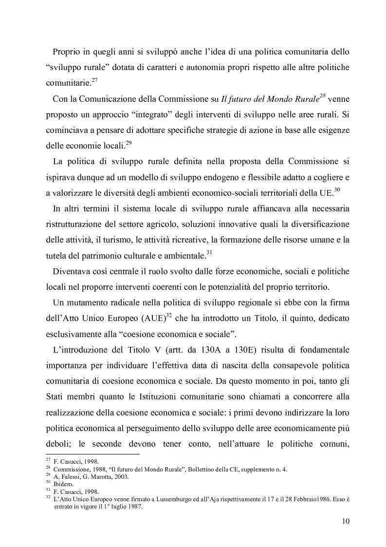 Anteprima della tesi: I Fondi Strutturali europei nel centro Italia. Un caso nella Regione Lazio., Pagina 9