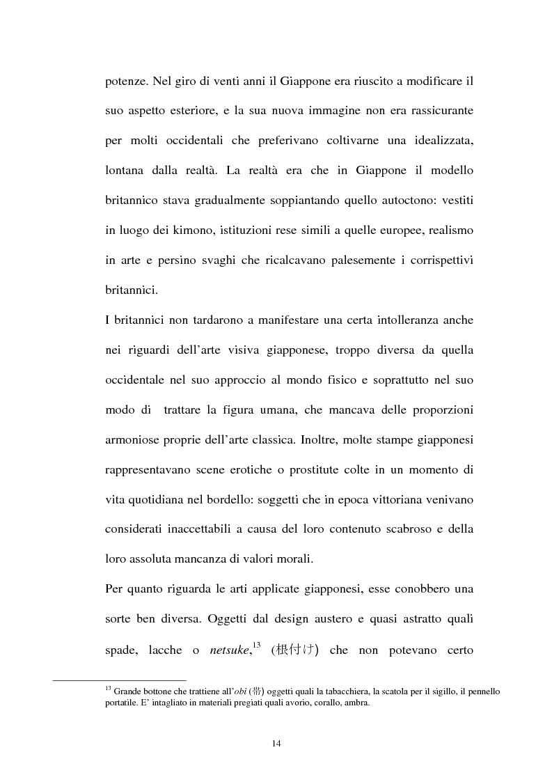 Anteprima della tesi: Il Giapponismo in Aubrey Beardsley, Pagina 14
