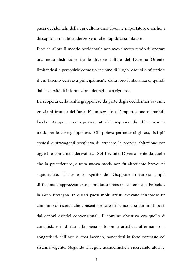 Anteprima della tesi: Il Giapponismo in Aubrey Beardsley, Pagina 3