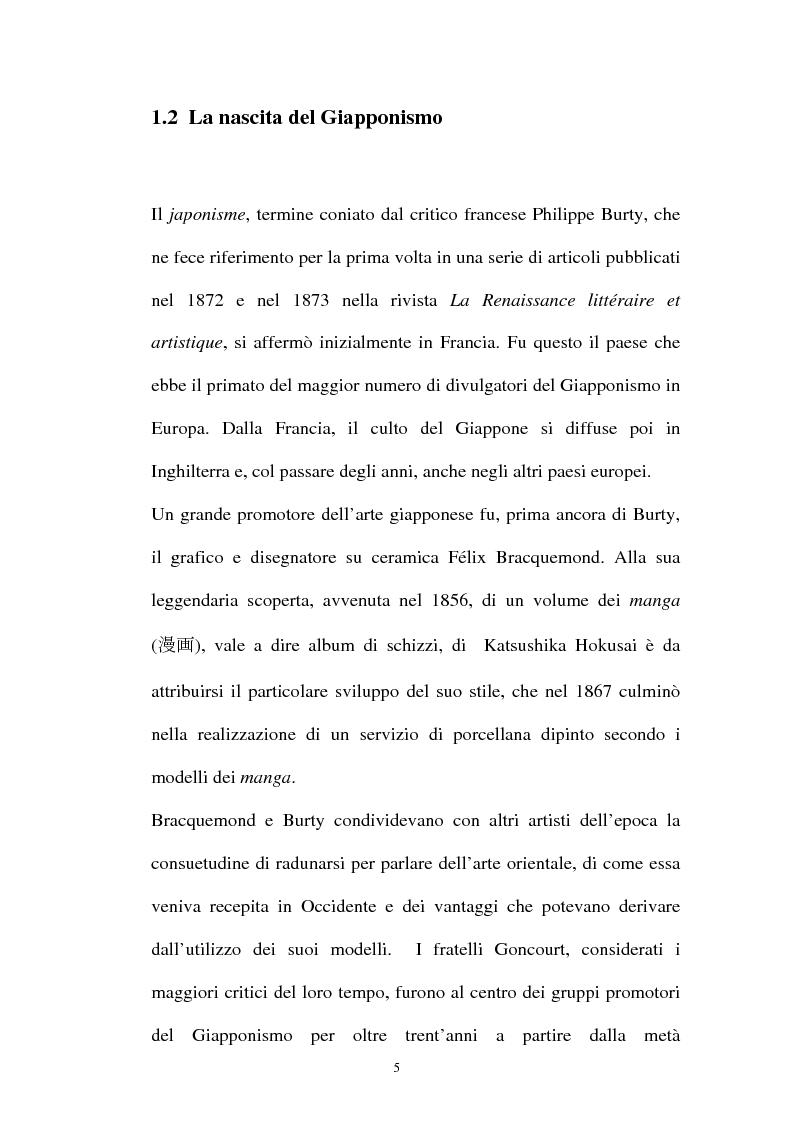 Anteprima della tesi: Il Giapponismo in Aubrey Beardsley, Pagina 5