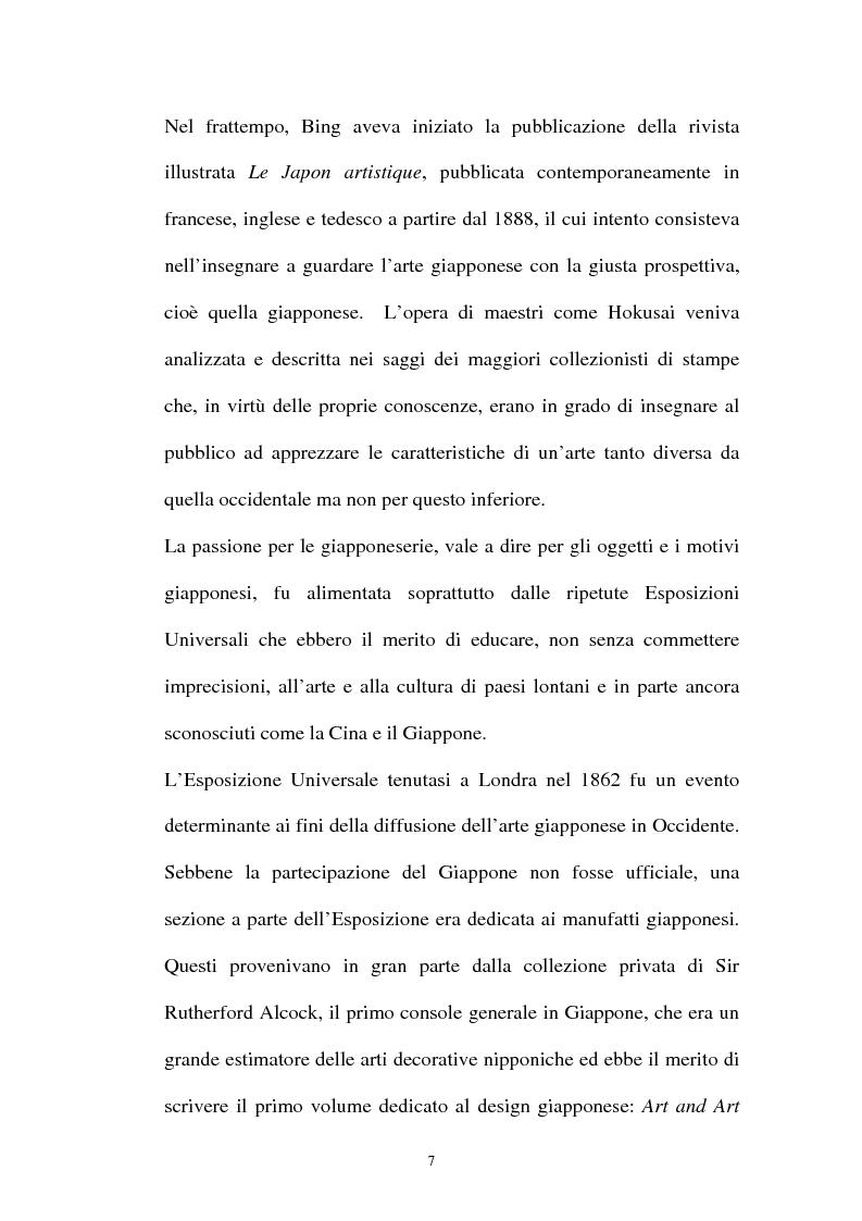 Anteprima della tesi: Il Giapponismo in Aubrey Beardsley, Pagina 7
