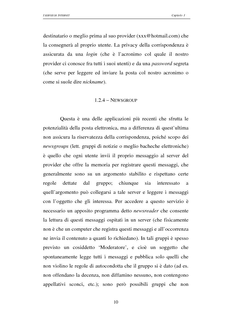 Anteprima della tesi: Responsabilità civile degli Internet providers: aspetti comparatistici, Pagina 10