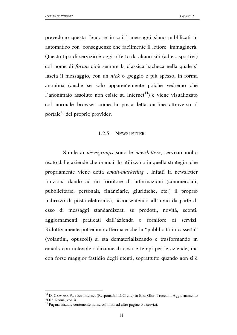 Anteprima della tesi: Responsabilità civile degli Internet providers: aspetti comparatistici, Pagina 11