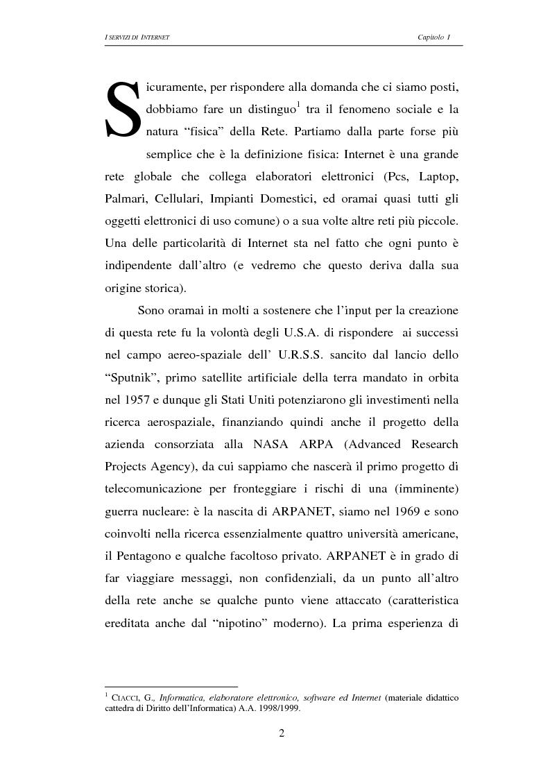 Anteprima della tesi: Responsabilità civile degli Internet providers: aspetti comparatistici, Pagina 2