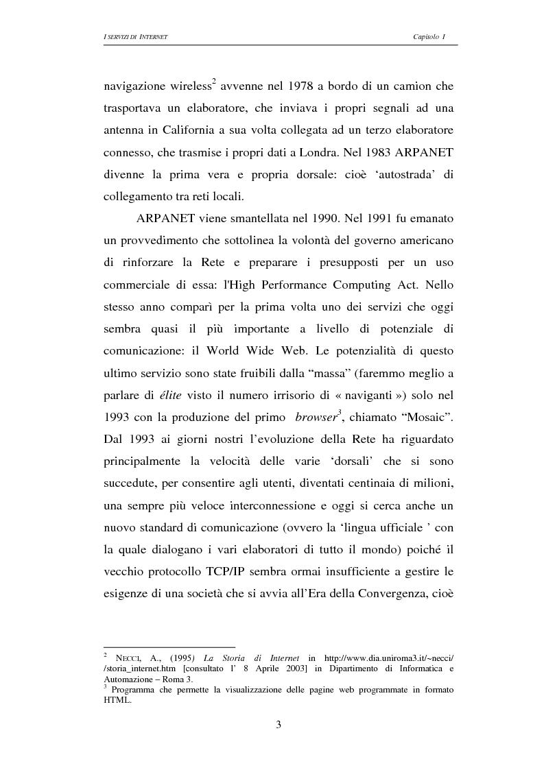 Anteprima della tesi: Responsabilità civile degli Internet providers: aspetti comparatistici, Pagina 3