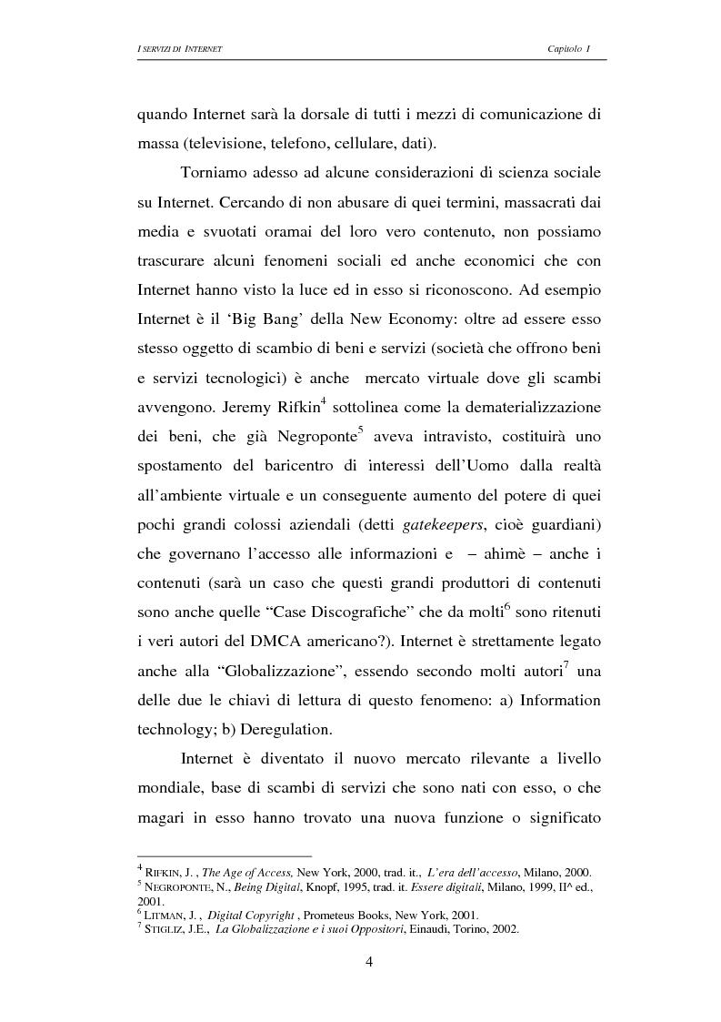 Anteprima della tesi: Responsabilità civile degli Internet providers: aspetti comparatistici, Pagina 4