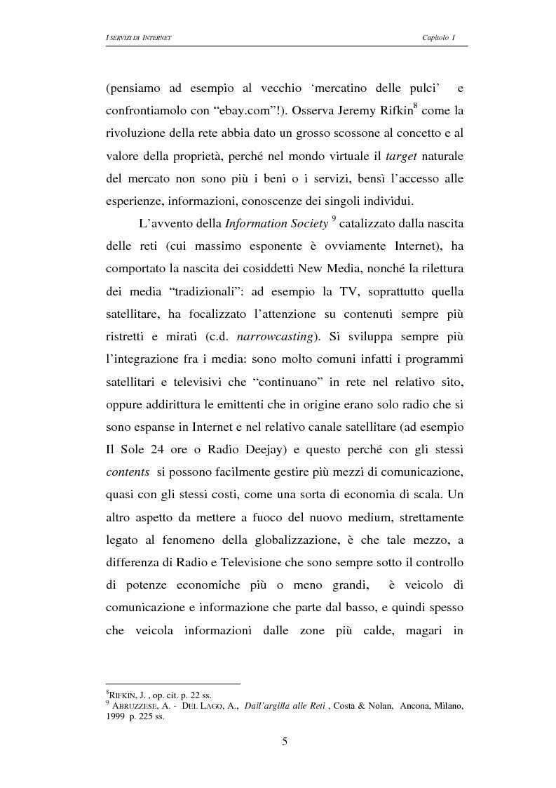 Anteprima della tesi: Responsabilità civile degli Internet providers: aspetti comparatistici, Pagina 5