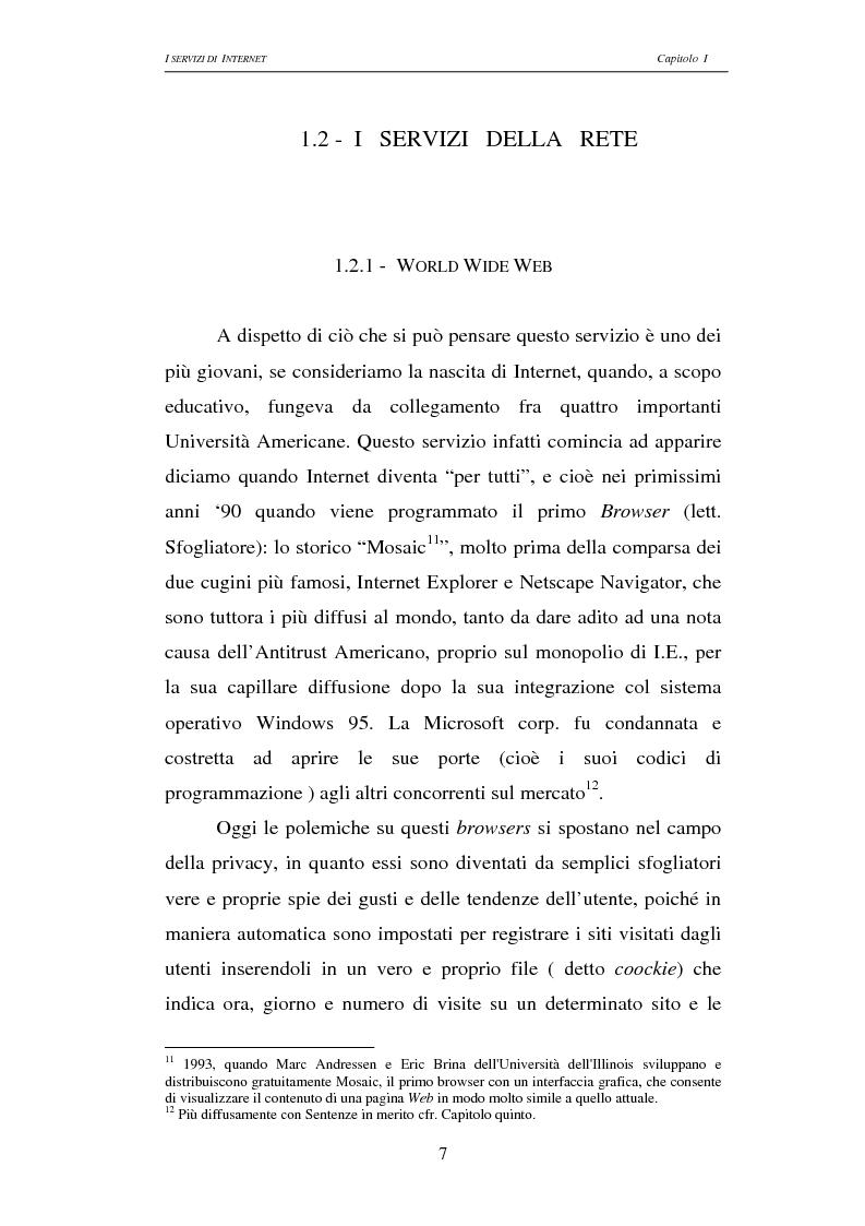 Anteprima della tesi: Responsabilità civile degli Internet providers: aspetti comparatistici, Pagina 7