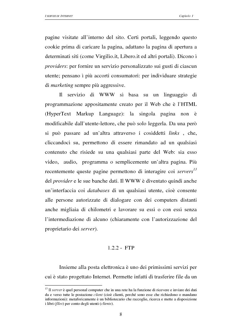 Anteprima della tesi: Responsabilità civile degli Internet providers: aspetti comparatistici, Pagina 8
