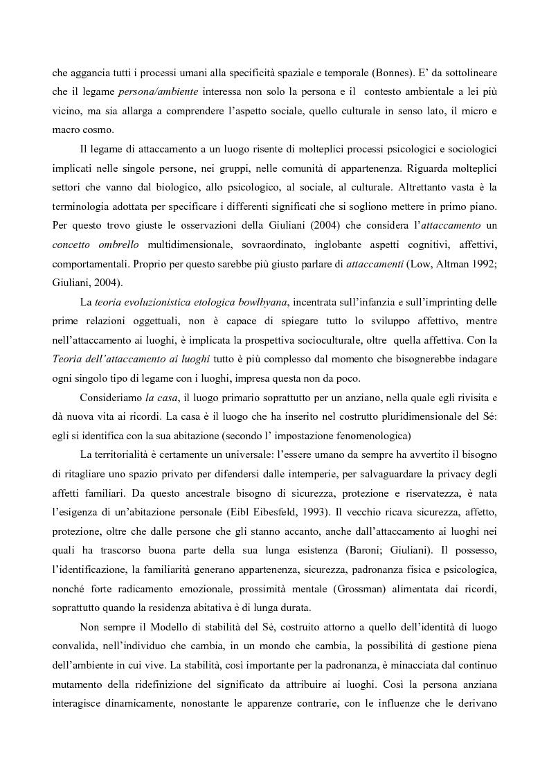 Anteprima della tesi: Attaccamento ai luoghi negli anziani, Pagina 2