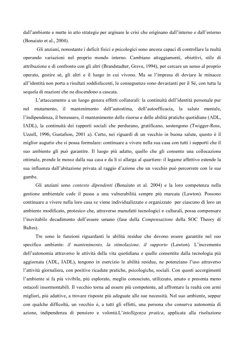 Anteprima della tesi: Attaccamento ai luoghi negli anziani, Pagina 3