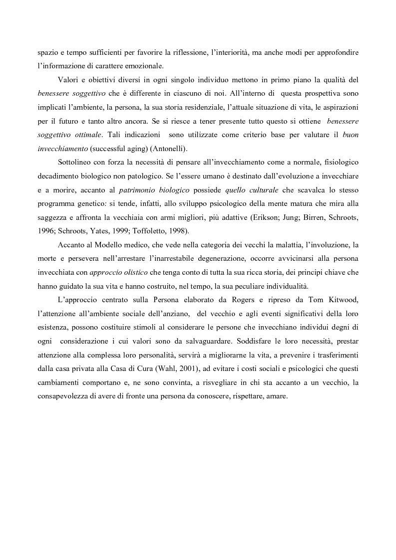 Anteprima della tesi: Attaccamento ai luoghi negli anziani, Pagina 6